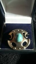 Sterling silver sterling silver turquoise brooch