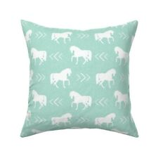 Horse Mint Arrow Chevron Pastel Throw Pillow Cover w Optional Insert by Roostery