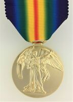 SUPERIOR QUALITY British WWI Victory Medal solid brass with ribbon. Full size