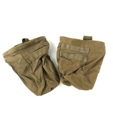 2 Pack Usmc Magazine Dump Pouch, Coyote Tan, Compact Molle Roll Up Pocket Defect