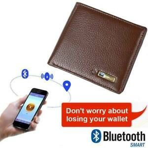 Men RFID Genuine Leather Smart bluetooth Wallet Anti Lost Locator Finder GPS Bag