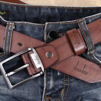 Luxury Men's Alloy Buckle Leather Belt Casual Jeans Waist Strap Waistband 2019
