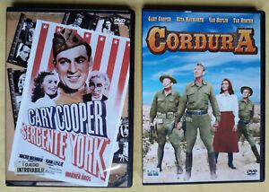 GARY COOPER: CORDURA + IL SERGENTE YORK - 2 DVD ITALIANI - Fuori Catalogo - Rari