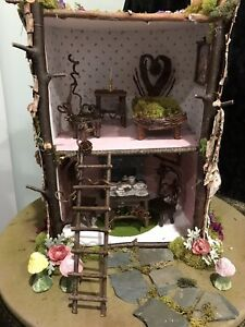 R John Wright Mouse House OOAK made from natural materials in Vermont