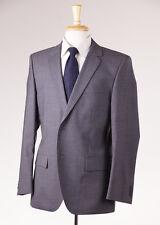 NWT $795 HUGO BOSS RED LABEL Solid Medium Gray Wool Suit 40 S 'Aamon/Hago'