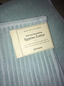 JOHN LEWIS bath Mat, Colour: Duck Egg/ Aqua