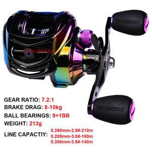 Durable Metal Bait Casting Fishing Reel Low-Profile 9+1BB Fishing Wheel L/R Hand