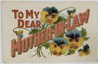 "Postmarked 1910 South Dakota Postcard ""To My Dear MOTHER-IN-LAW"""
