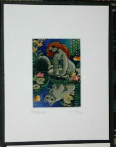 'The Pond'-Michael Leu Signed Print-Framed & Matted by Gallery Leu Inc.