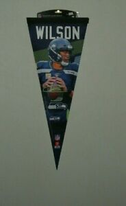 """SEATTLE SEA HAWKS #3 RUSSELL WILSON  ROLL AND GO 12' X 30"""" PLAYER PENNANT NEW"""