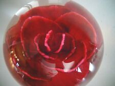 1982 Limited Edition EARLY SELKIRK Glass Scotland Paperweight CRIMP ROSE 2/250
