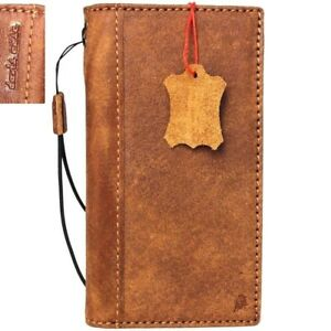 Genuine Real Leather Case for Apple iPhone 7 Book Wallet Cover Slim Cards Slots