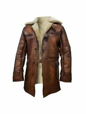 Tom Hardy Bane Dark Knight Genuine Sheepskin Shearling Leather Halloween Coat