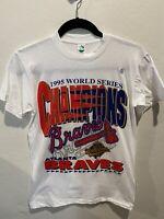 Vintage Atlanta Braves Deadstock 1995 World Series Champions Tshirt Medium