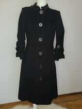 Burberry london Black Wool Trench Coat size 10,