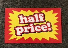 Half Price Display Sale Price Signs 3 716 X 5 716 25 Lot