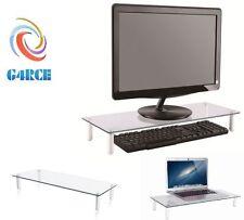 NEW PC Computer Desktop Monitor Stand Laptop TV Display Screen Riser Shelf UK