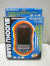 SUDOKU ELECTRONIC HAND HELD GAME NIP TOUCH SCREEN YD-638 TIME DATE CLOCK