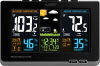 Wireless Digital Home Weather Station Forecast Indoor Outdoor Thermometer Temp