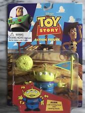 TOY STORY THINKWAY TOYS ALIEN w TURNING HEAD & ROTATING HANDS MOC 1995