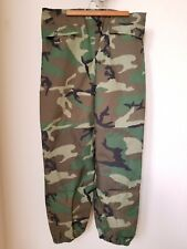 US MILITARY WOODLAND CAMO GORTEX PANTS MEDIUM