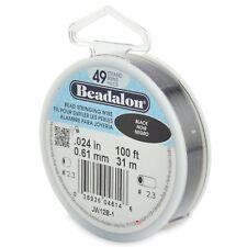 "Beadalon Black .024"" Bead Stringing Wire 49 Strand Flex Wire - 100ft"