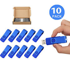 10 Pack 2GB Non-Slip Swivel Flash Memory Stick Thumb Drive USB 2.0 Flash Drive