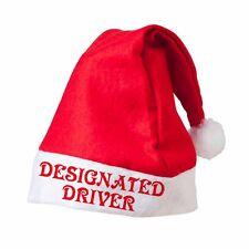 DESIGNATED DRIVER Santa Hat Printed Festive Father Christmas Novelty Customised