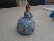 Porcelain half doll dressed