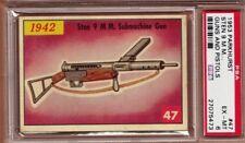 1953 Parkhurst GUNS & PISTOLS 9mm STEN MACHINE GUN Scarce PSA 6 EX/MT