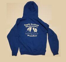 Vintage South Graham Elementary School North Carolina PANDA PRIDE Hoodie Size M