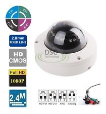 HD CVI/TVI/AHD/Analog 12IR 33ft/10M 2.8mm Dome Vandal-Proof  Camera With IR-Cut