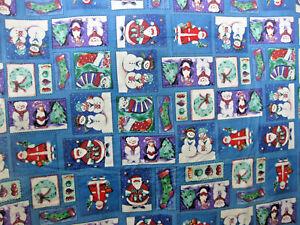 "Tablecloth Holiday Oblong 52"" x 70""  Snowman Santa Christmas Flannel Back Vinyl"