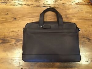 Mens Coach Hamilton Leather Messenger Bag Briefcase Lap Top - Mahogany Brown NWT