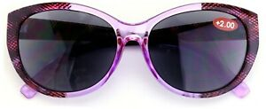 Women Outdoor Reading Sunglasses Reader Cateye Vintage Jackie Oval Carbon Theme