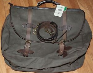 Filson Vintage Large carry on bag with shoulder strap Made in Seattle USA