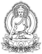 Buddha Budda black etichetta sticker 9cm x 12cm