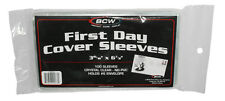 Lot of 800 BCW First Day Cover Soft Poly Sleeves 3 15/16 X 6 7/8 Archival Safe