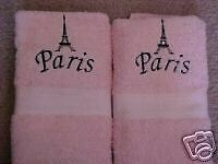 Eiffel Tower/Paris  Hand Towels - Pink