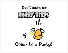 20 ANGRY BIRDS General Birthday Graduation PARTY INVITATIONS Post Cards