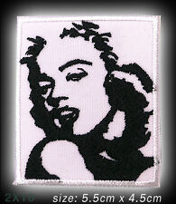 """MARILYN MONROE """"Portrait"""" Movie Embroidered Iron-On / Sew-On Patch - NEW - #2X10"""