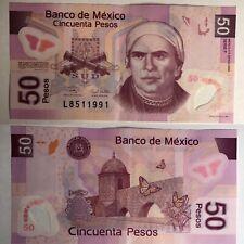 🎊 Birthday 1991 Fancy Serial $50 Pesos Mexican Polymer Note- 2006 Vintage Legal