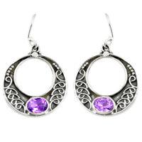 Silver Earrings with Amethyst Cubic Zirconia /& Chrysolite Gemstone Sokolov Russian Jewelry 925