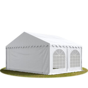 Partyzelt 5x5m Festzelt Gartenzelt Pavillon Bierzelt wasserdicht PVC weiß NEU