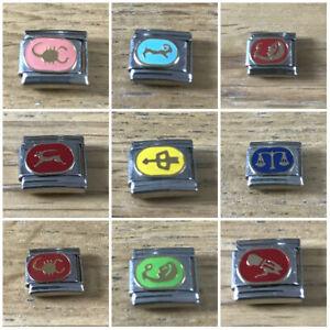 ZODIAC- ITALIAN-  Charm-Fits Nomination 9mm bracelet - FREE GIFT Pouch nc132