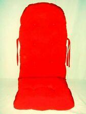 """Fauteuil à bascule revêtement rembourrage coussin couleur """" Rouge """""""