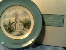 RHTF VTG 1974 AVON CHRISTMAS PLATE COUNTRY CHURCH -NEW IN BOX-FREE SHIPPING
