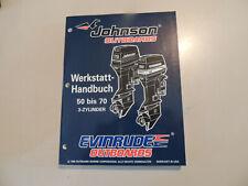 1996 Werkstatthandbuch JOHNSON Evinrude Außenborder 50 60 65 70 PS 3-Zyl.
