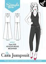 SIMPLE SEW SEWING PATTERN THE CARA JUMPSUIT SIZE 8-20 ADVENTUROUS BEGINNER SR07