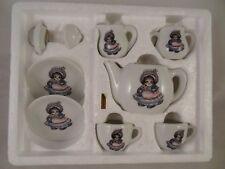KITTY CUCUMBER 9 Piece Toy CHINA TEA SET 1984 B.Shackman & Co. Taiwan Miniature